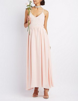 Crochet & Chiffon Maxi Dress $49.99 thestylecure.com