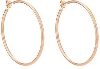 Carbon & Hyde Women's Rose Gold Hollow Hoop Earrings