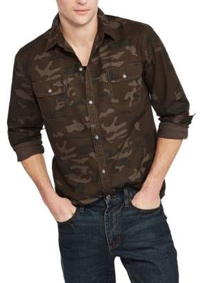 Hollywood Men's Long Sleeve Stretch Poplin Shirt
