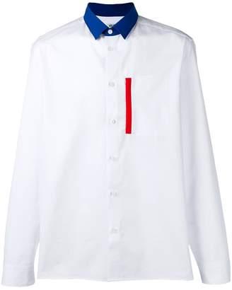 Kenzo contrasting collar shirt