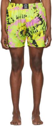 SSS World Corp Green Tie-Dye Swim Shorts