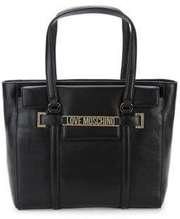 Love Moschino Zippered Leather Tote
