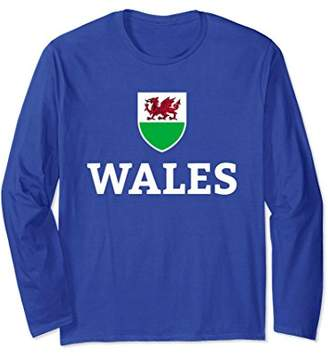 Wales Welsh Football Soccer Long Sleeve T-Shirt