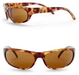 Ray-Ban 60mm Wrap Acetate Sunglasses