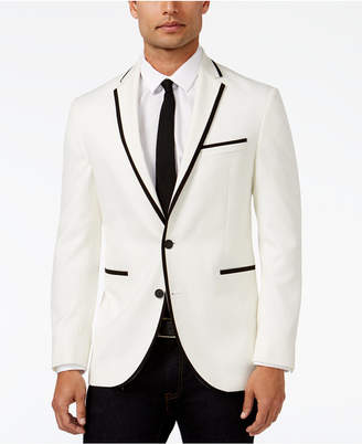 Kenneth Cole Reaction Slim-Fit White with Black Trim Dinner Jacket, Online Only
