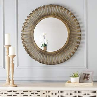 Noble House Jesse Circular Hanging Wall Mirror