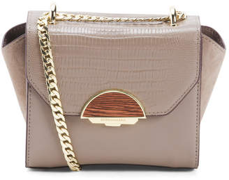 Evianna Leather Crossbody Clutch With Chain Strap