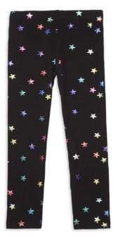 Design History Little Girl's Foil Star Print Leggings