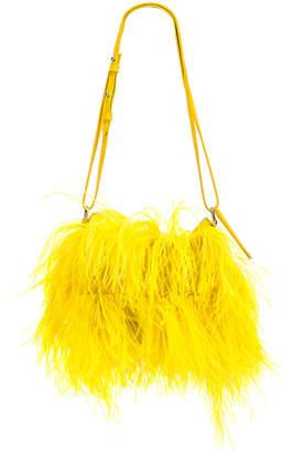 Marques Almeida Marques ' Almeida Feather Bag in Yellow | FWRD