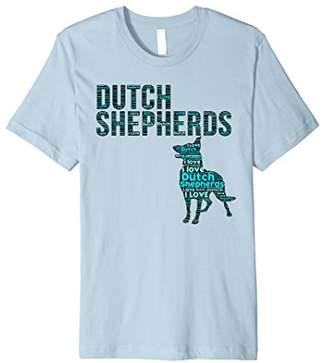 I Love Dutch Shepherds - Word Cloud Dutch Shepherd T Shirt 2