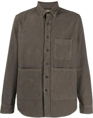 front pocket button shirt