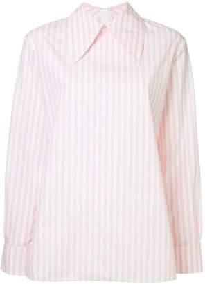 Marni striped oversized collar shirt
