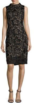 Adrianna Papell Lace Embroidered Sheath Dress