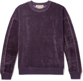 Remi Relief Ribbed Velour Sweatshirt