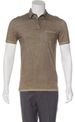 John Varvatos Distressed Polo Shirt