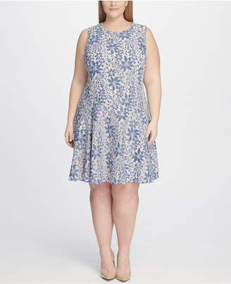 Tommy Hilfiger Plus Size Lace Fit and Flare Dress