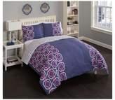 Vue Blue & Pink Trellis Piper Reversible Comforter Set - Vue౦