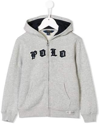Ralph Lauren Kids contrast logo hoodie