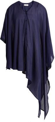 Palmer Harding PALMER/HARDING Ribbon-trim asymmetric-hem shirt
