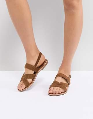 New Look Cross Strap Suede Flat Sandal
