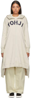 Y-3 Y 3 Beige Yohji Letters Full-Zip Dress