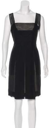 Akris Pleated Sleeveless Dress