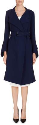 Roland Mouret Wool Belted Wrap Coat