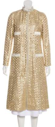 Marc Jacobs Metallic Long Coat Gold Metallic Long Coat