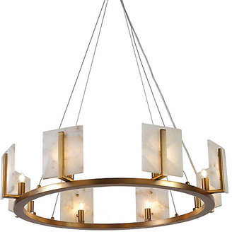 Jamie Young Halo Alabaster Chandelier - Natural/Brass