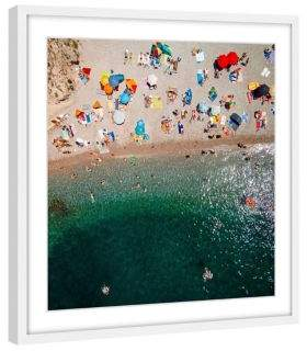 Marmont Hill Packed Beach Framed Print