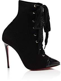 Christian Louboutin Women's Frenchie Knit Ankle Boots-Black