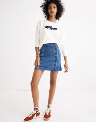 Madewell Stretch Denim A-Line Mini Skirt: Asymmetrical Edition