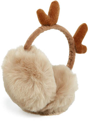 Berry Jewelry Reindeer Faux-Fur Earmuffs