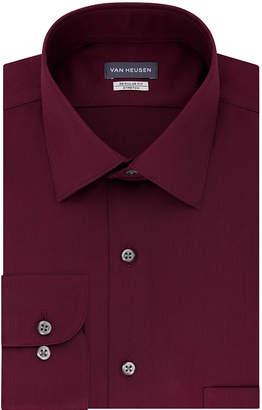 Van Heusen No Iron Lux Sateen Long Sleeve Sateen Dress Shirt