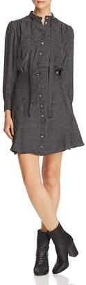 Rebecca Taylor Sprinkle-Dot Silk Shirt Dress