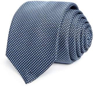 HUGO Textured Micro Dash Silk Skinny Tie