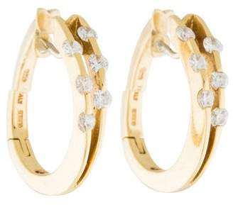 Roberto Coin 18K Diamond Hoop Earrings