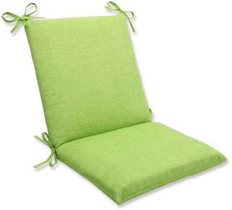 Pillow Perfect Baja Linen Lime Squared Corners Chair Cushion