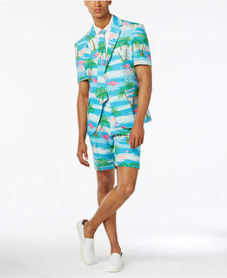 OppoSuits Men's Flaminguy Slim-Fit Tropical-Print Suit & Tie $99.99 thestylecure.com