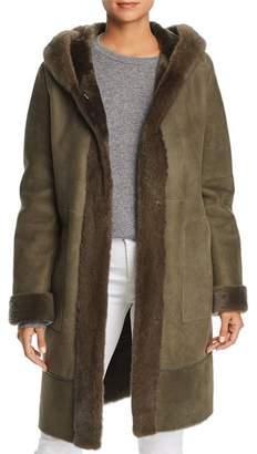 Maximilian Furs Lamb Shearling Coat with Mink Fur Hood - 100% Exclusive