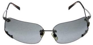 Versace Rimless Tinted Sunglasses