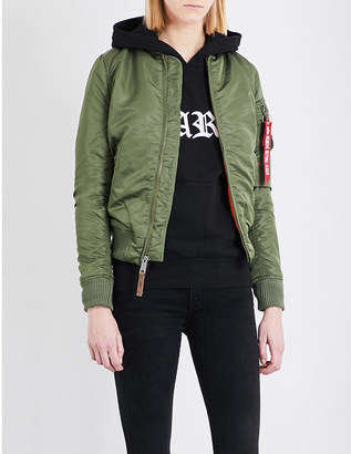 Alpha Industries MA-1 shell bomber jacket $163 thestylecure.com