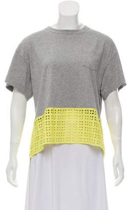 Sacai Luck Short Sleeve Boxy Fit Top