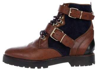 Burberry Haldworth Leather & Suede Combat Booties