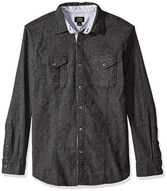 Lee Men's Long Sleeve Stretch Woven Shirt