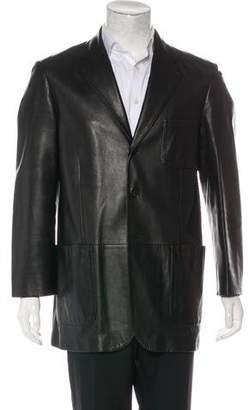 Bruno Magli Leather Three-Button Sport Coat