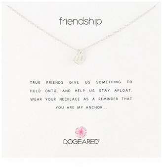Dogeared Reminders- Friendship Sterling Anchor Charm Necklace