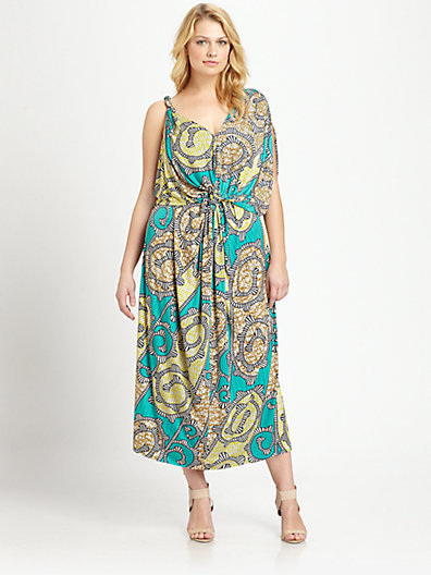 T-Bags Los Angeles, Salon Z Twist-Front Maxi Dress