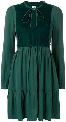 Pinko tie neck skater dress