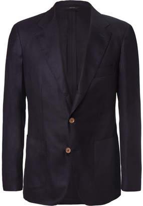 Loro Piana Navy Voyager Slim-Fit Cashmere Blazer